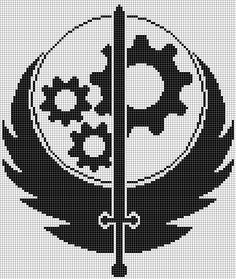 brotherhood of steel logo pattern.png