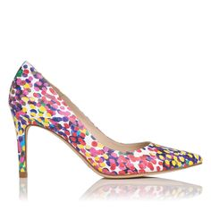 LK BENNETT | Floret printed heel | Leather upper, lining and sole | Heel height: 8.5cm | £175