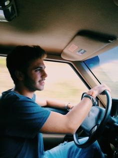 Jasper on the road trip. Except he drives a pricy car, not sure what yet.