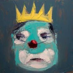 "Jeremy Price; Painting, ""clowns in crowns #3"""