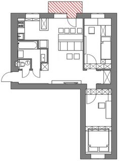 Перепланировка 3-комнатной хрущевки