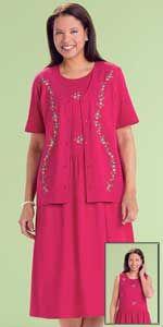 Knit Embroidered Jacket Dress  Amerimark   $16.99