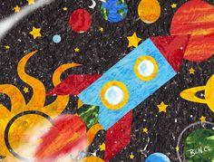 spaceship adventure- BenCPanda by #childrensillustrator