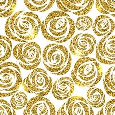 Background with gold flowers Free Vector