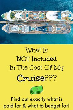 """So you're booking a cruise? You're probably wondering, """"what is, and what is NOT included in the cost of my cruise?"""" Understand what you're paying for Packing List For Cruise, Cruise Tips, Cruise Vacation, Vacation Trips, Vacations, How To Book A Cruise, Alaskan Cruise, Cruise Destinations, Best Cruise"""