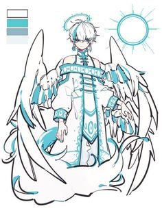 anime boy white hair with wings character design Fantasy Character Design, Character Drawing, Character Design Inspiration, Character Concept, Concept Art, Poses References, Art Reference Poses, Character Design References, Fantasy Characters