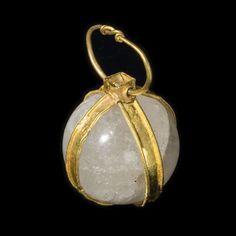 Merovingian Rock Crystal Bead | #aboutaam #ancient #art