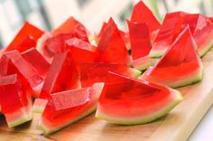 Get ready for the amazed looks on your friends' faces, and serve! | Here's How To Make XXL Watermelon Jell-O Shots