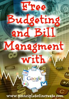 Free Budgeting and Bill Management with Google Apps « Principles of Increase