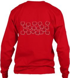 Study. Red Long Sleeve T-Shirt Back