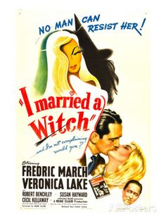 I Married a Witch, Fredric March, Veronica Lake, Robert Benchley, 1942 Premium Poster