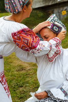Bacúch is a village in the Brezno District, in the Banská Bystrica Region of Slovakia. Traditional Fashion, Traditional Dresses, Fiesta Dress, Folk Embroidery, Folk Costume, Central Asia, Beautiful Patterns, Folklore, Helping Hands