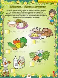 Hasil Gambar Untuk Gambar Makanan 4 Sehat 5 Sempurna Untuk Diwarnai Makanan Minuman Sehat Makanan Dan Minuman