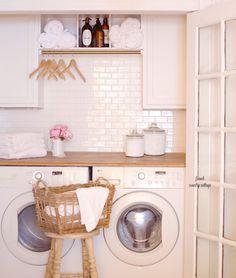 BASEMENT LAUNDRY ROOM: Unfinished Basement Laundry Room Ideas, Basement Laundry Room Before and After #LAUNDRY #BasementRoom