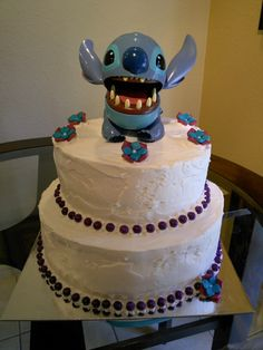 Stitch Tres Leches Cake with Strawberry Filling 8/29/14