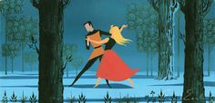 Eyvind Earle concept artwork for Sleeping Beauty