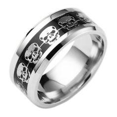The Never Fade Stainless Steel Skull Ring