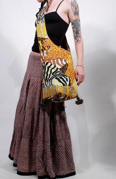 Tigress tote large cross body vintage hippie ethnic gypsy  shoulder bag