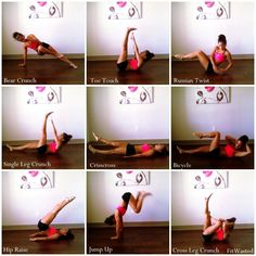 Some of my favorite ab exercises via #fitwasted.