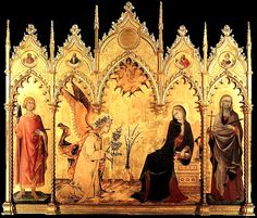 Annunciation with St. Margaret and St. Ansanus    Simone Martini and Lippo Memmi  1333