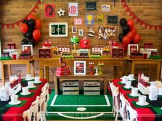 Soccer Theme Parties, Soccer Party, Party Themes, Party Ideas, Boy Birthday, Happy Birthday, Birthday Parties, Spanish Music, Holiday Parties
