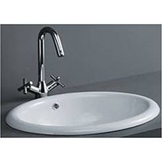 Oval Drop-in Porcelain Bathroom Sink - Overstock™ Shopping - Great Deals on DeNovo Bathroom Sinks