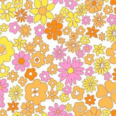 Hippie Wallpaper, Retro Wallpaper, Aesthetic Iphone Wallpaper, Flower Wallpaper, Aesthetic Wallpapers, Wallpaper Backgrounds, Cute Wallpapers, Fabric Wallpaper, Print Wallpaper