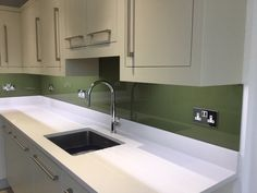 Bespoke manufacturers and installers of colour coated decorative glass worktops, glass splashbacks, glass wall panels and glass mirrors for kitchens and… Olive Green Kitchen, Splashback Ideas, Olive Branches, Glass Kitchen, Counter, Roman, Kitchen Design, Blessed, Easter