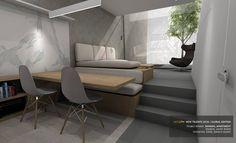 #NeolithNewtalents - Global Edition MINIMAL APARTMENT by Javier Rueda, #EASDZamora #interiordesign #interiordesignstudents