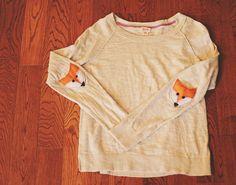 DIY Felt Fox Elbow Patches | Whimseybox