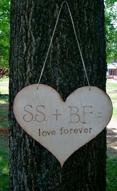 """Rustic Wedding - possibility for a """"guest book"""" if the bench doesn't pan out?"""
