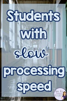 What does slow processing speed look like in the classroom? How can teachers accommodate students who may need more time to complete tasks? Learn about how slow processing speed can affect students and find some ideas for helping slow-working students fin Behavior Management, Classroom Management, Teaching Tools, Teacher Resources, Resource Room Teacher, Teaching Ideas, Curriculum, Homeschool, Executive Functioning