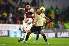 Ashley Westwood Of Burnley In Action With Anthony Martial Of Burnley Anthony Martial Anthony