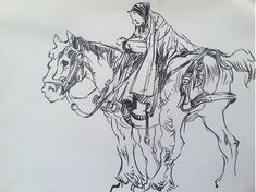 Horse Girl Utkan Görgüç  @e.utkangorguc on Instagram Gesture Drawing, Horse Girl, Sketch, Horses, Photo And Video, Drawings, Instagram, Art, Drawing Poses