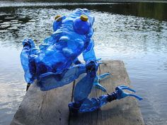 Artist Veronika Richterová recycles plastic bottles into beautiful plant and animal sculptures