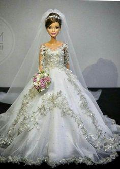 Barbie Bridal, Barbie Wedding Dress, Wedding Doll, Barbie Gowns, Barbie Dress, Barbie Clothes, Bridal Dresses, Wedding Gowns, Barbie Doll