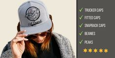 Looking for a great gift for a cap lover, or just a lover? We got you covered. Great range, awesome quality, all expertly embroidered. Embroidered Caps, Fitted Caps, Snapback Cap, Shop Now, Baseball Hats, Beanie, Awesome, Gift, Fashion