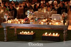 Romántico y chic #flowers #candels #wedding #ebodas