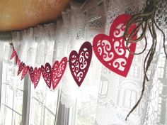Vintage Love---A Valentine's Day Garland for the Home---Ready to ship