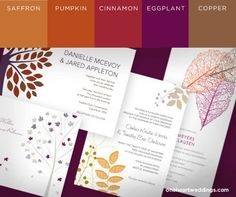Wedding colors. Copper. Bronze instead of pumpkin. Gold instead of saffron. Ruby instead of cinnamon. Sapphire blue instead of eggplant. Tones of autumn with the elegance of gemstones and precious metals.
