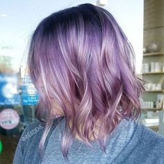 Image result for lavender ombre hair short