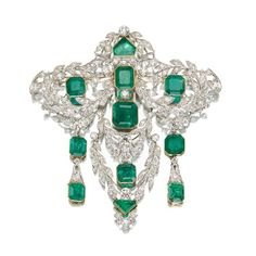 Emerald Brooches | Vintage Style Rings