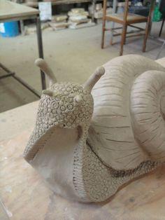 Escargot, céramique,sculpture,argile,grès,terre, modelage, mes5elements, alittlemarket, création,raku,animaux