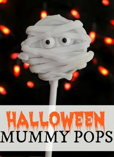 Halloween Mummy Pops - these were a huge hit with the kids! So easy and so good!
