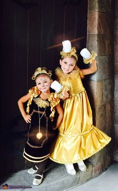 Cogsworth+and+Lumiere+-+2015+Halloween+Costume+Contest+via+@costume_works