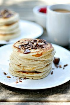 Reese's Peanut Butter Cup Pancakes