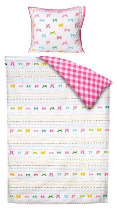 Dekbedset Lotte van lief!: vrolijk beddengoed voor de meisjeskamer #kinderkamer #beddengoed