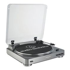 Audio-Technica Fully Automatic Belt-Drive USB Turntable (AT-LP60USB), Silver