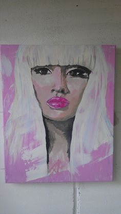 Nikki Pink by artist Charlotte-Louise. SOLD £70.