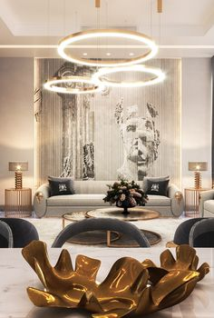 Stunning living room in private palace ajman by Maher Mouhajer . Room Interior Design, Living Room Interior, Home Living Room, Living Room Designs, Living Room Decor, Luxury Decor, Luxury Interior, Home Decor Furniture, Luxury Furniture
